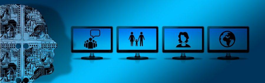 Cyber stalker following a victim online